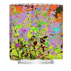 Breathing Color Shower Curtain