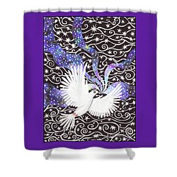 Breathing Life Into Darkness Shower Curtain by Lise Winne