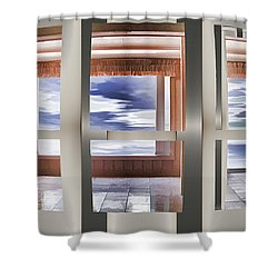 Breathing Space - Silver, Optimized For Metallic Paper Shower Curtain