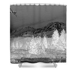 Breathtaking In Black And White Shower Curtain