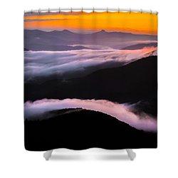 Shower Curtain featuring the photograph Breatthtaking Blue Ridge Sunrise by Serge Skiba