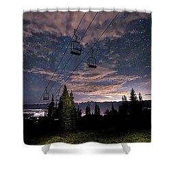 Breckenridge Chairlift Under Stars Shower Curtain