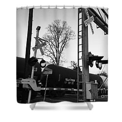 Breeze Black And White Shower Curtain
