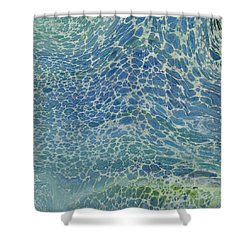 Breeze On Ocean Waves Shower Curtain