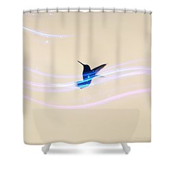 Shower Curtain featuring the photograph Breeze Wings by Debra     Vatalaro