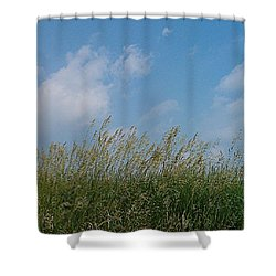 Shower Curtain featuring the photograph Breezy Day by Sara  Raber