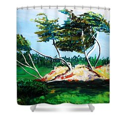Breezy Shower Curtain
