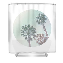 Breezy Palm Trees- Art By Linda Woods Shower Curtain by Linda Woods