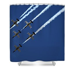 Breitling Team Crowd Pleases At Reno Air Races Shower Curtain