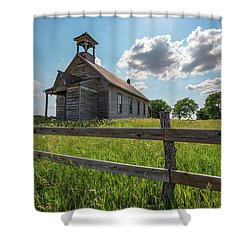 Shower Curtain featuring the photograph Bremen Schoolhouse by Darren White