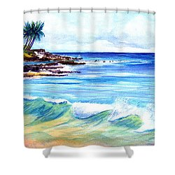 Brennecke's Beach Shower Curtain by Marionette Taboniar