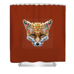 Brerr Fox T-shirt Shower Curtain
