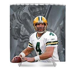 Brett Favre Green Bay Packers Shower Curtain