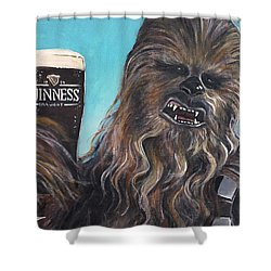 Brewbacca Shower Curtain by Tom Carlton