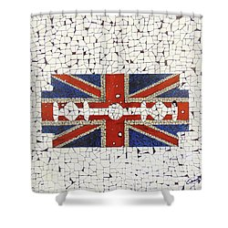Union Jack Shower Curtain by Emil Bodourov