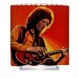 Brian May Of Queen Painting Shower Curtain