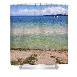 Bribie Ocean  Shower Curtain