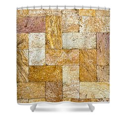 Brick Abstract With Border -01 Shower Curtain
