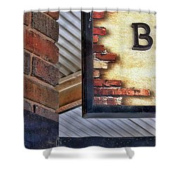 Shower Curtain featuring the photograph Brick Bar by Nikolyn McDonald