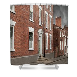 Shower Curtain featuring the photograph Brick Buildings by Juli Scalzi