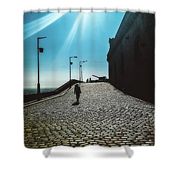 Shower Curtain featuring the photograph Brick By Brick by Colleen Kammerer