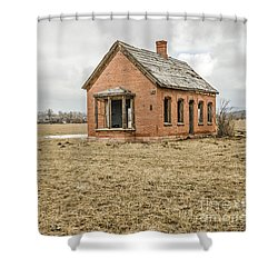 Shower Curtain featuring the photograph Brick Home In November 2015 by Sue Smith