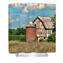 Brick Silo Shower Curtain by Trey Foerster
