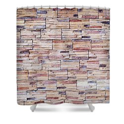 Shower Curtain featuring the photograph Brick Tiled Wall by John Williams