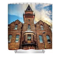 Shower Curtain featuring the photograph Brick Tower by Perry Webster