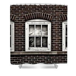 Shower Curtain featuring the photograph Brick Trio by Brad Allen Fine Art