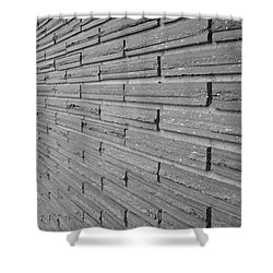 Brick Wall 1 In Black And White Shower Curtain