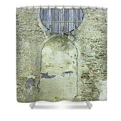 Bricked Up Door And Boarded Window Shower Curtain by Michal Boubin