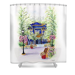 Brickroom On The Plaza Shower Curtain