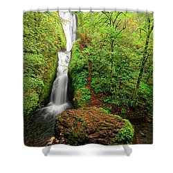 Shower Curtain featuring the photograph Bridal Veil Falls by Jonathan Davison