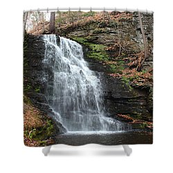 Shower Curtain featuring the photograph Bridal Veil Falls by Linda Sannuti