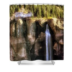 Bridal Veil Falls Power Plant - Telluride - Colorado Shower Curtain by Jason Politte
