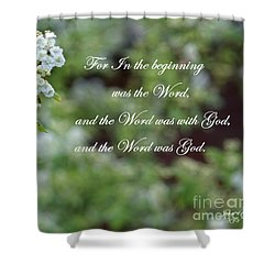 Bridal Wreath Christian Art Shower Curtain