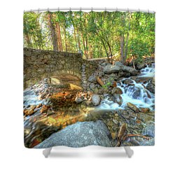 Bridalveil Creek At Yosemite By Michael Tidwell Shower Curtain