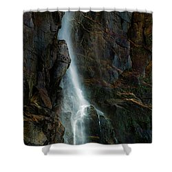 Shower Curtain featuring the photograph Bridalveil Falls In Autumn by Bill Gallagher