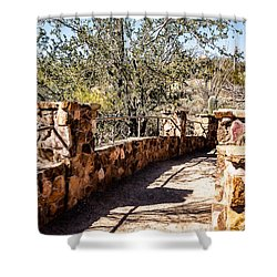 Bridge Over Desert Wash Shower Curtain