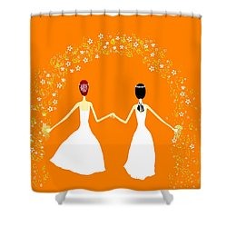 Brides Shower Curtain