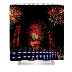 Bridge 13 Canada Day Shower Curtain