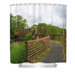 Bridge Along Lewis And Clark Hiking Trail  Shower Curtain