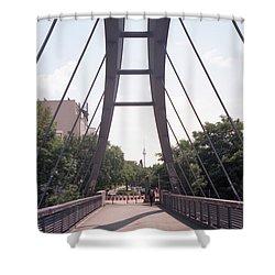 Bridge And Alexanderplatz Tower Shower Curtain