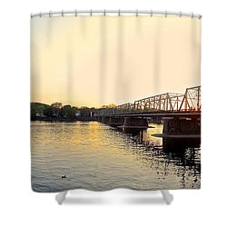 Bridge And New Hope At Sunset Shower Curtain