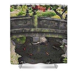 Bridge At Senso-ji Shower Curtain