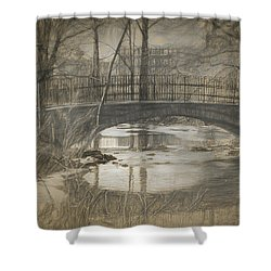 Bridge At The Fens Shower Curtain