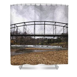 Bridge At The Mill Shower Curtain