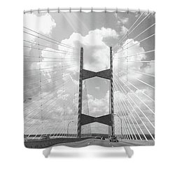 Bridge Clouds Shower Curtain