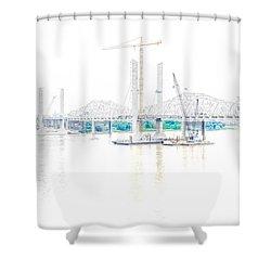 Bridge Construction Shower Curtain